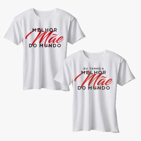 CAMISETA MÃE E FILHO - MELHOR MÃE DO MUNDO