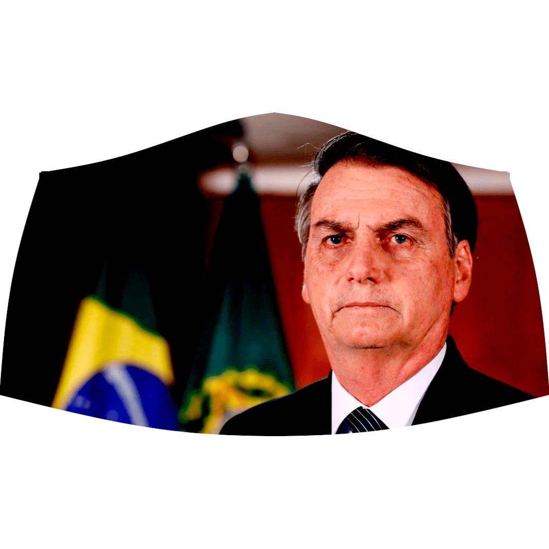 MÁSCARA REUTILIZÁVEL DE TECIDO - BOLSONÁRO