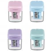 Apontador Escolar Faber Castell Com Depósito MiniBox Tons Pastel