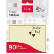 Bloco Notas Adesivas Keep Amarelo 75x100mm C/90 Folhas