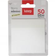 Bloco Notas Adesivas Keep Transparente 75x75mm 50 Folhas