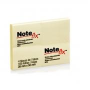 Bloco Notas Adesivas Notefix Amarelo 38x50mm 4 Blocos 100 folhas