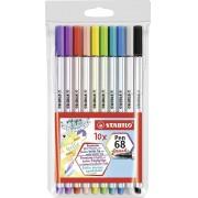 Brush Pen 68 Stabilo 10 Cores - Lançamento