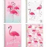 Caderno Espiral Aloha Flamingo Tilibra