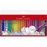 Caneta Fine Pen Faber Castell 24 Cores