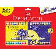 Canetinha Bicolor Faber Castell 48 Cores