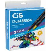 Canetinha Dual Brush Cis 36 Cores
