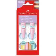 Canetinha Vai e Vem Pastel Faber Castell 6 Cores