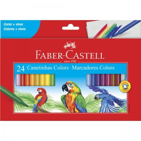 Canetinha Hidrográfica Colors Faber Castell  24 Cores