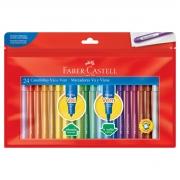 Canetinha Hidrográfica Faber Castell Vai e Vem 24 Cores