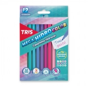 Canetinha Mega HidroColor Tris 12 Cores Tons Pastel