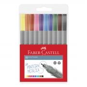 Conjunto Caneta Fine Pen Grip Faber Castell 10 Cores
