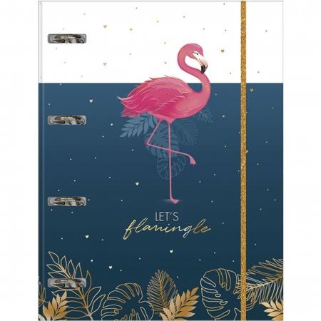 Fichário Universitário C/ Elástico Tilibra Aloha Flamingo 80 Folhas