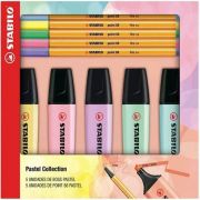 Kit Stabilo Boss Pastel + Caneta Point 88 Pastel