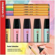 Kit Stabilo Boss Pastel + Caneta Point 88 Pastel
