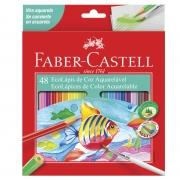 Lápis de Cor Aquarelável Faber Castell 48 Cores