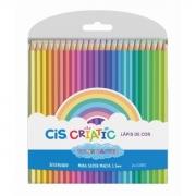 Lápis De Cor Cis Criatic Sextavado Tons Pastel C/24 Cores