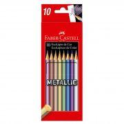 Lápis De Cor Faber Castell Metallic 10 Cores
