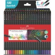 Lápis de Cor Faber Castell SuperSoft 100 Cores