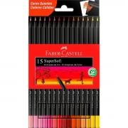Lápis de Cor Faber Castell SuperSoft 15 Cores Quentes