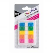 Marca Página Tris Pop Office T005 Decor Bolinhas Com Estojo Puxa Fácil