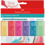 Marca Texto Faber Castell Textliner 46 Pastel 6 Cores