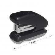 Mini Grampeador Brw 7,5cm Preto