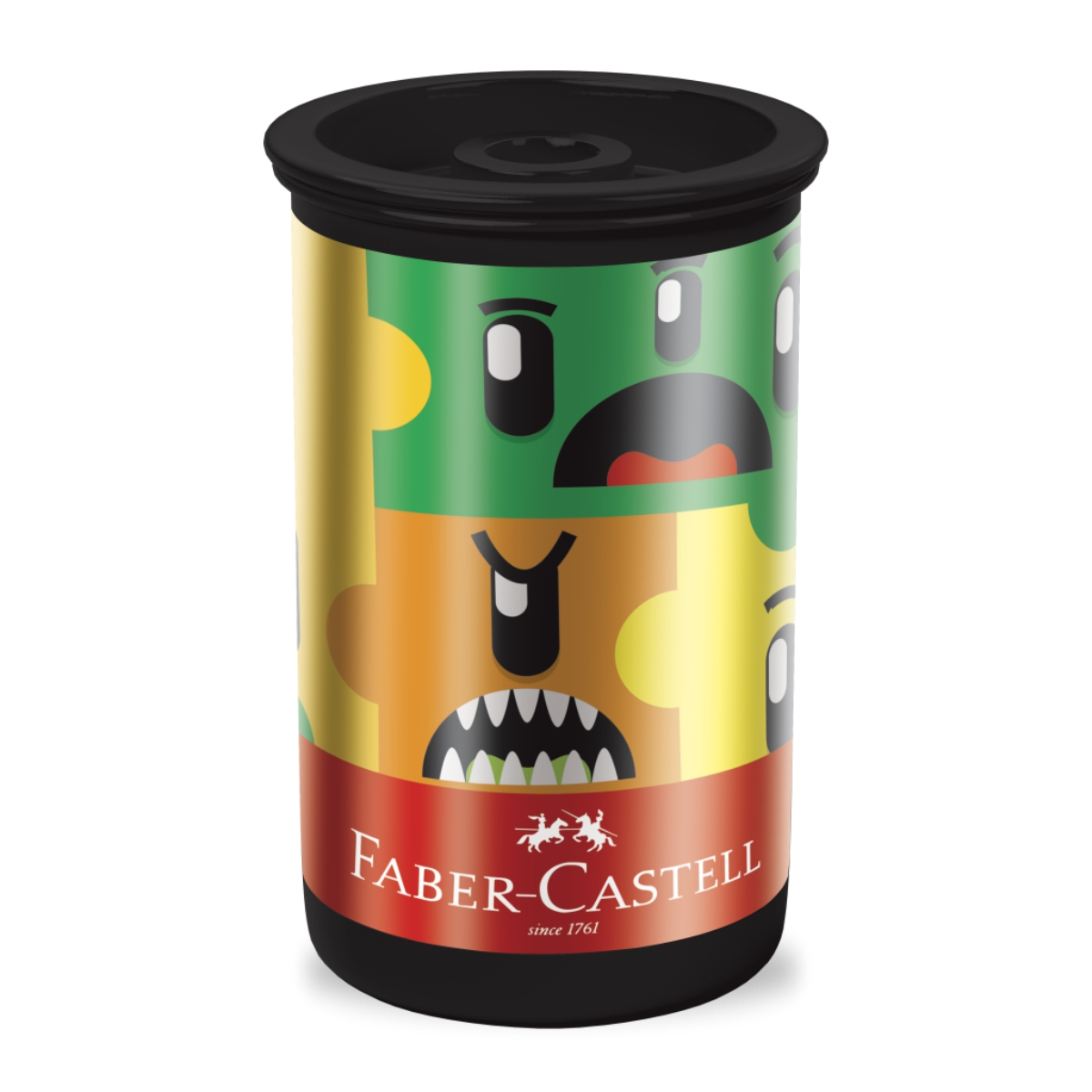 Apontador Faber Castell Tubo Monster Puzzle