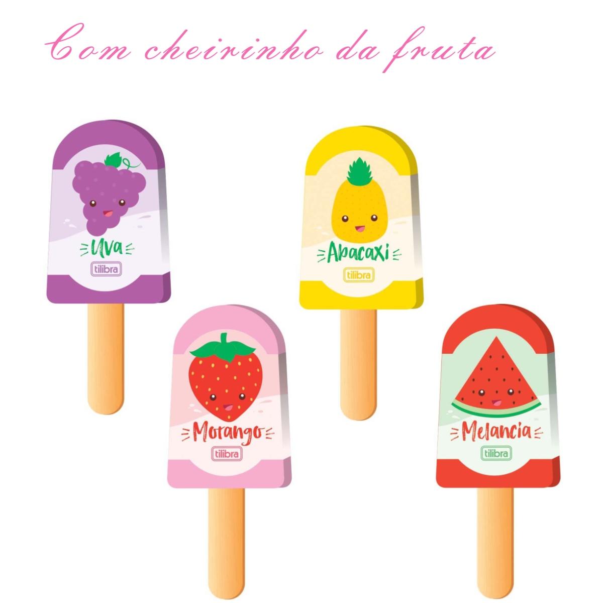Borracha Tilibra Picolé C/ Cheirinho de Fruta Unitária