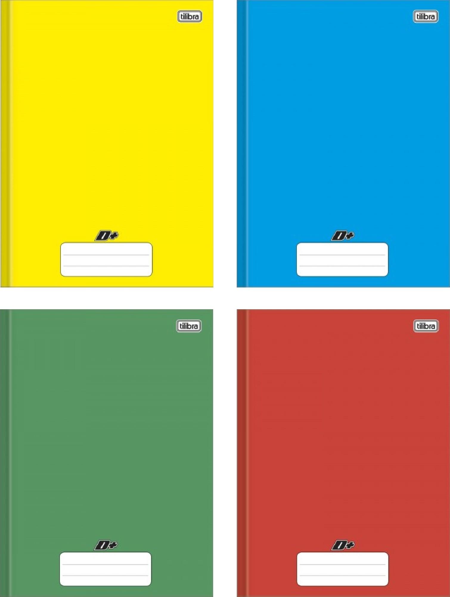 Caderno Brochurão Capa Dura Tilibra D+ Colorido