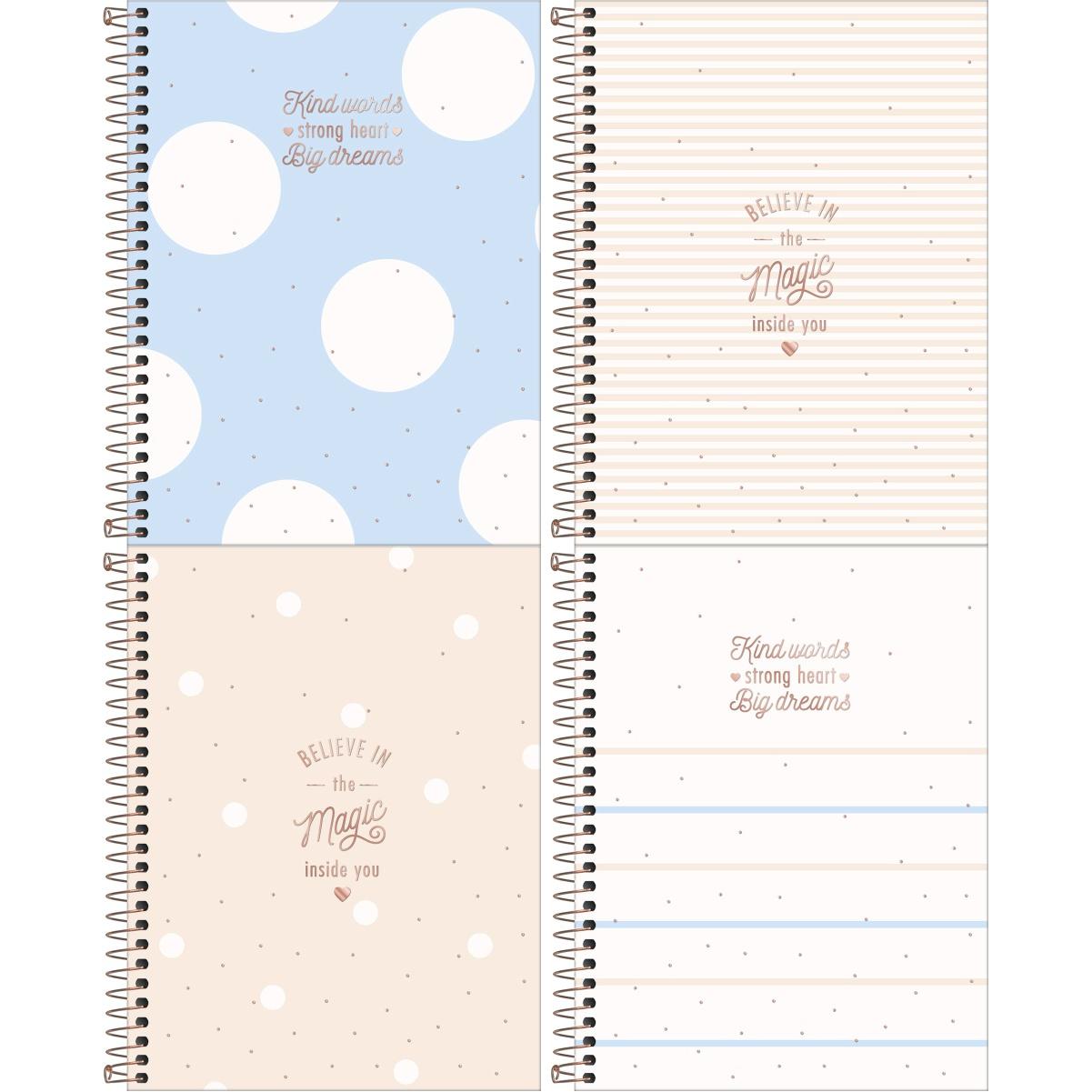Caderno Espiral Capa Dura Colegial 10 Matérias (160 Folhas) ou 1 Matéria (80 Folhas) Soho Tilibra Tamanho Médio
