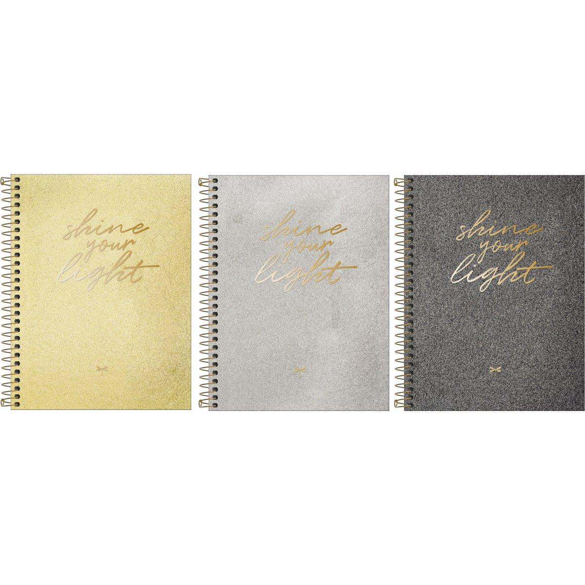 Caderno Espiral Capa Dura Colegial 1 Matéria (80 Folhas) Shine Tilibra Tamanho Médio