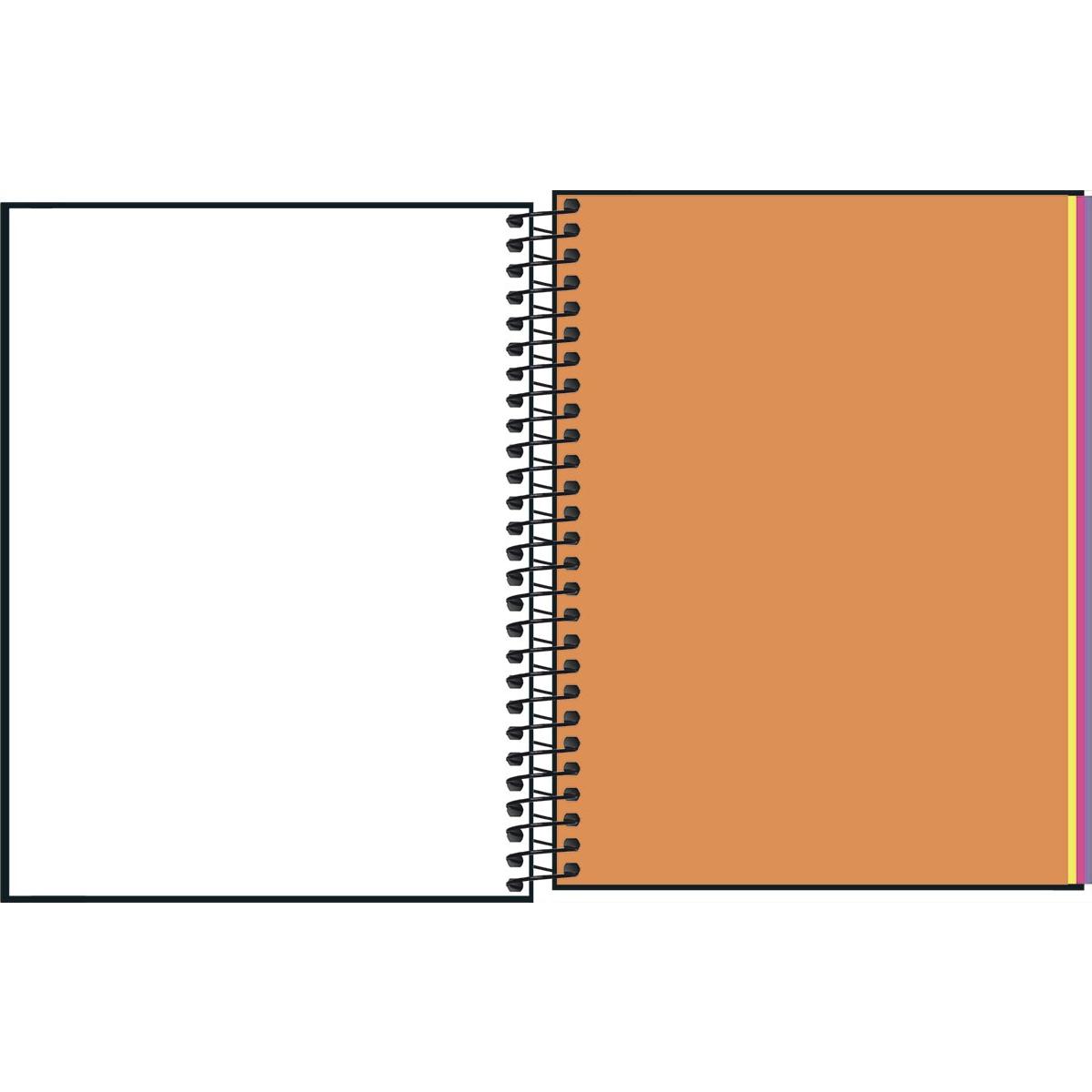 Caderno Espiral Capa Dura Colegial 80 Folhas Sem Pautas e Coloridas Neon Kori Tilibra