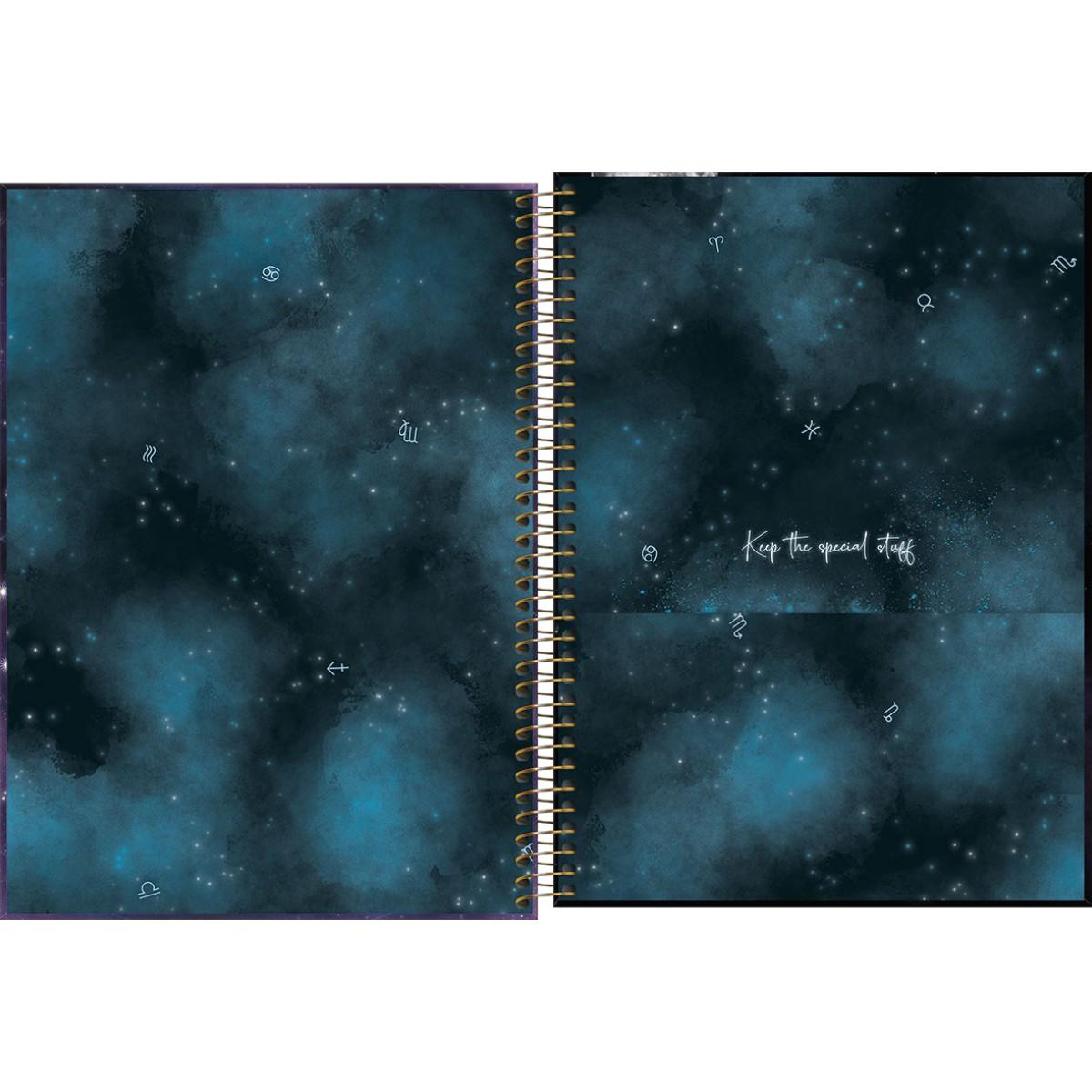 Caderno Espiral Capa Dura  Universitário 1 Matéria (80 Folhas) ou 10 Matérias (160 Folhas) Magic Tilibra Unitário