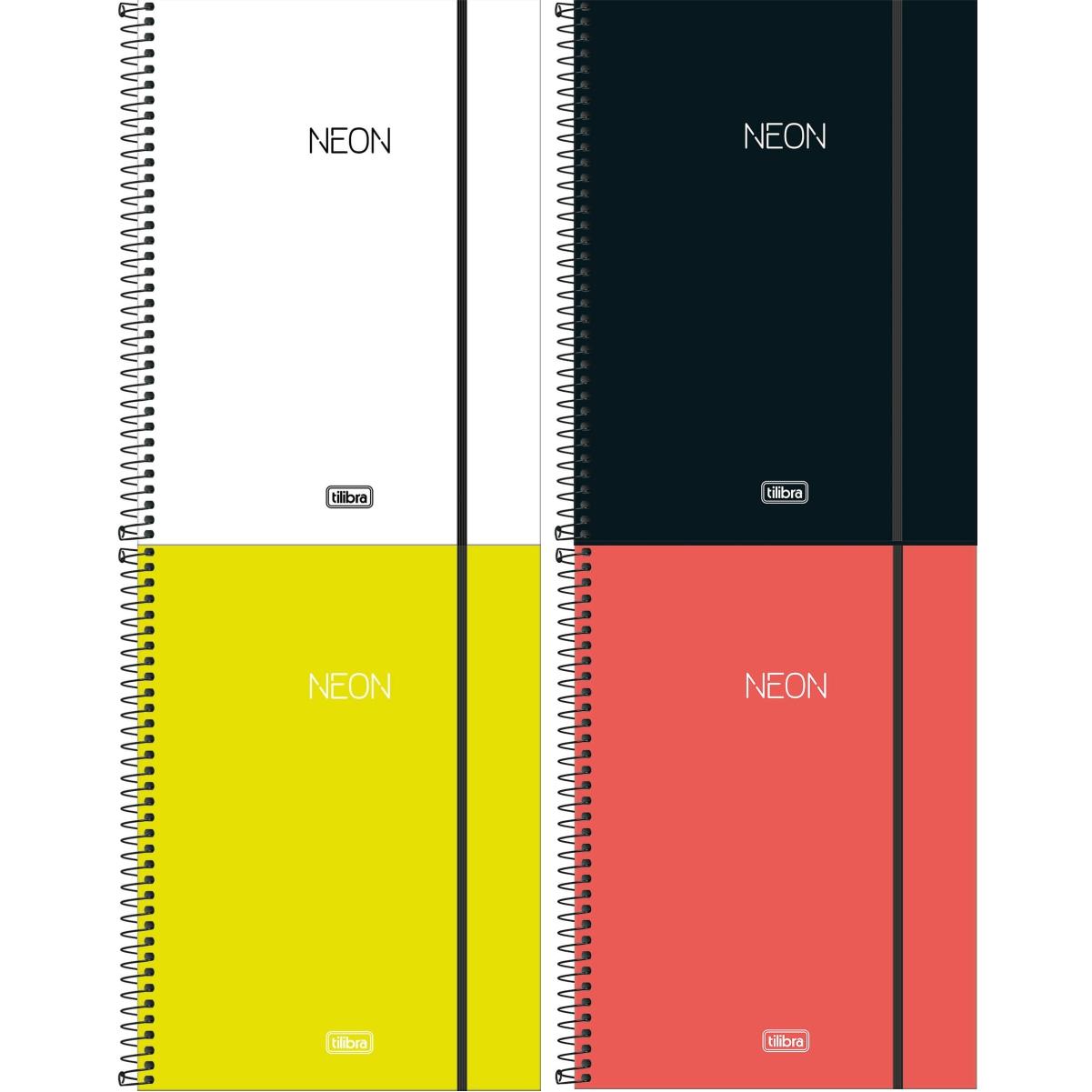 Caderno Espiral Capa Dura  Universitário 1 Matéria (80 Folhas) ou 10 Matérias (160 Folhas) Neon Tilibra Unitário