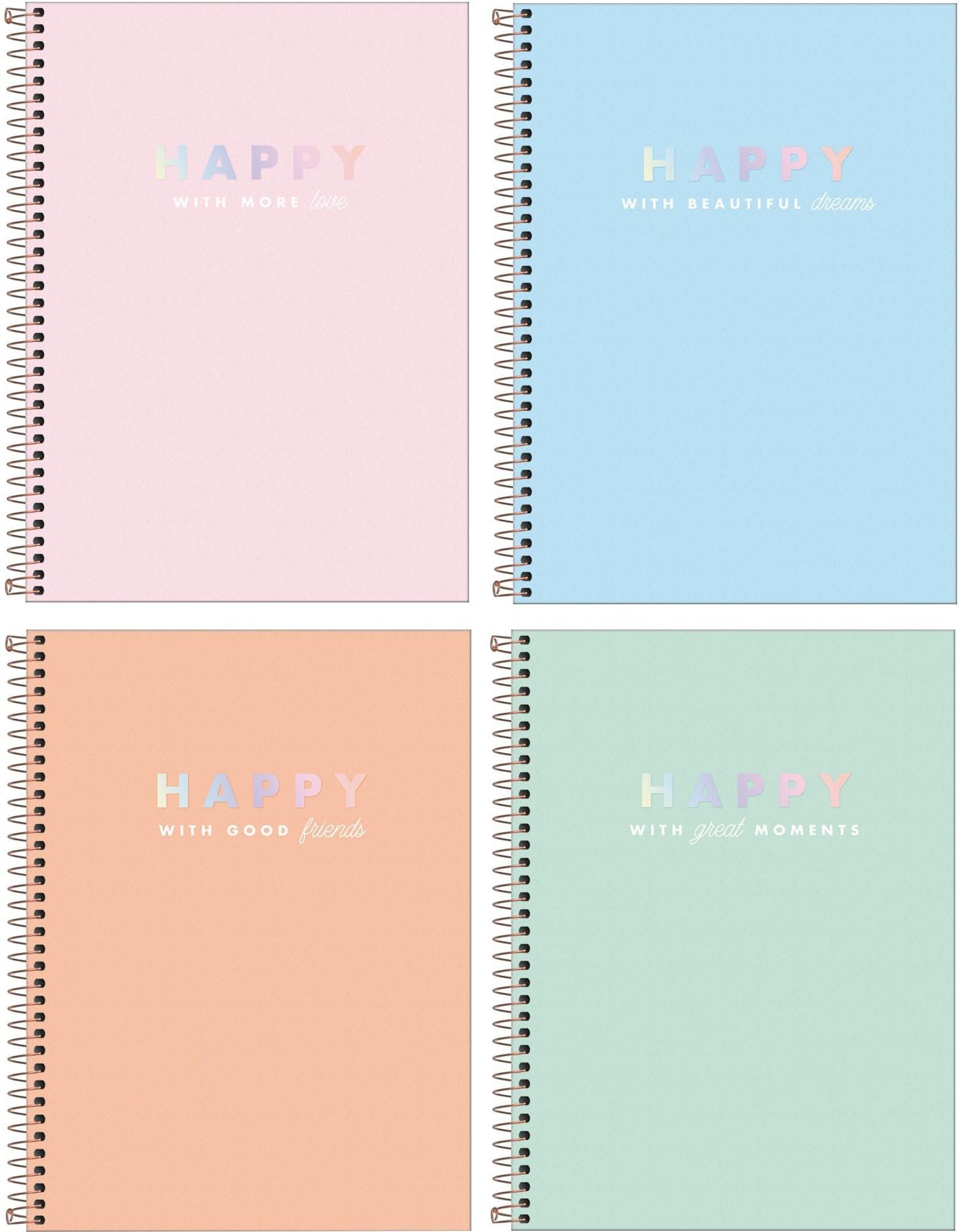Caderno Espiral Happy Tilibra