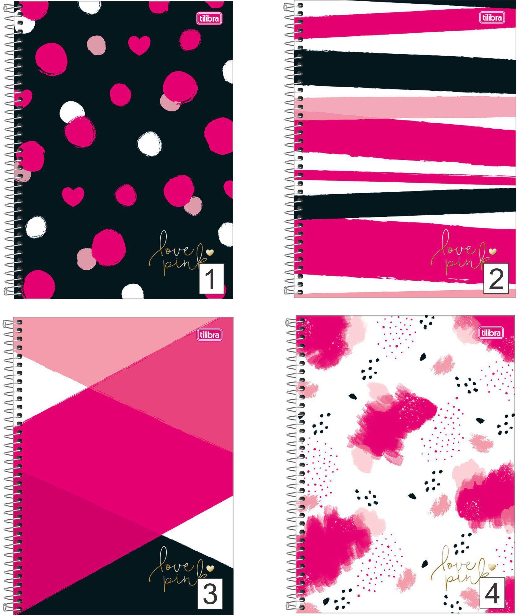 Caderno Espiral Love Pink Tilibra