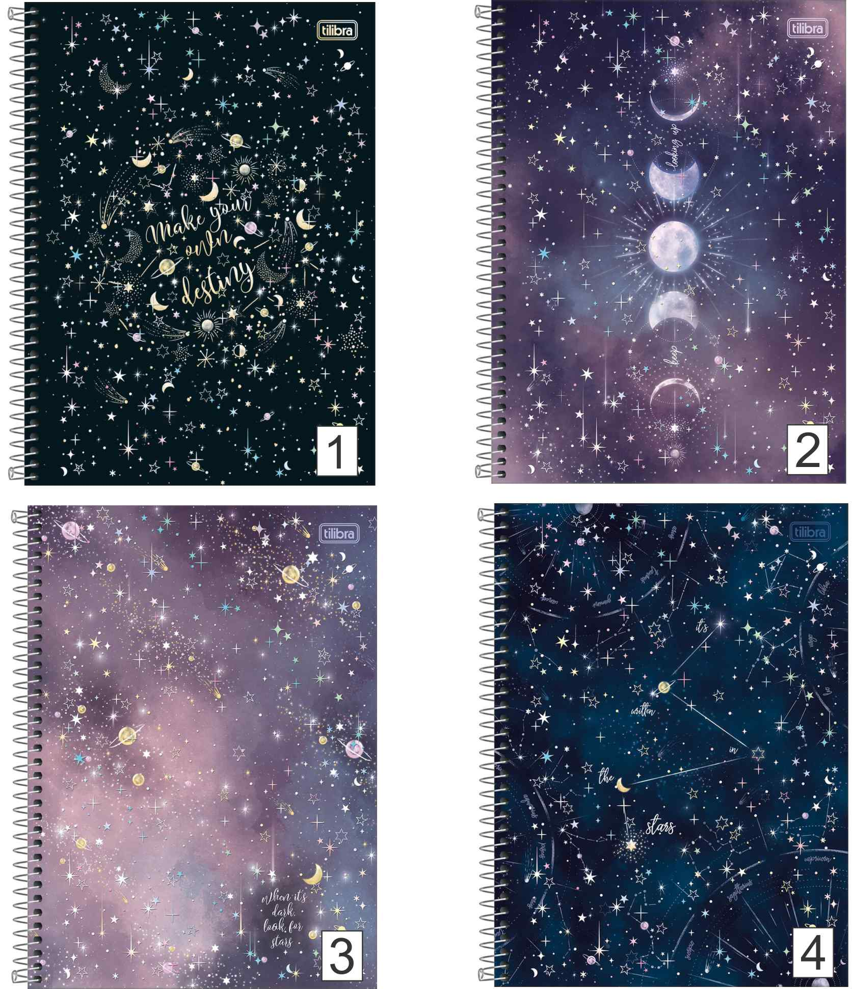 Caderno Espiral Magic Planetas Tilibra