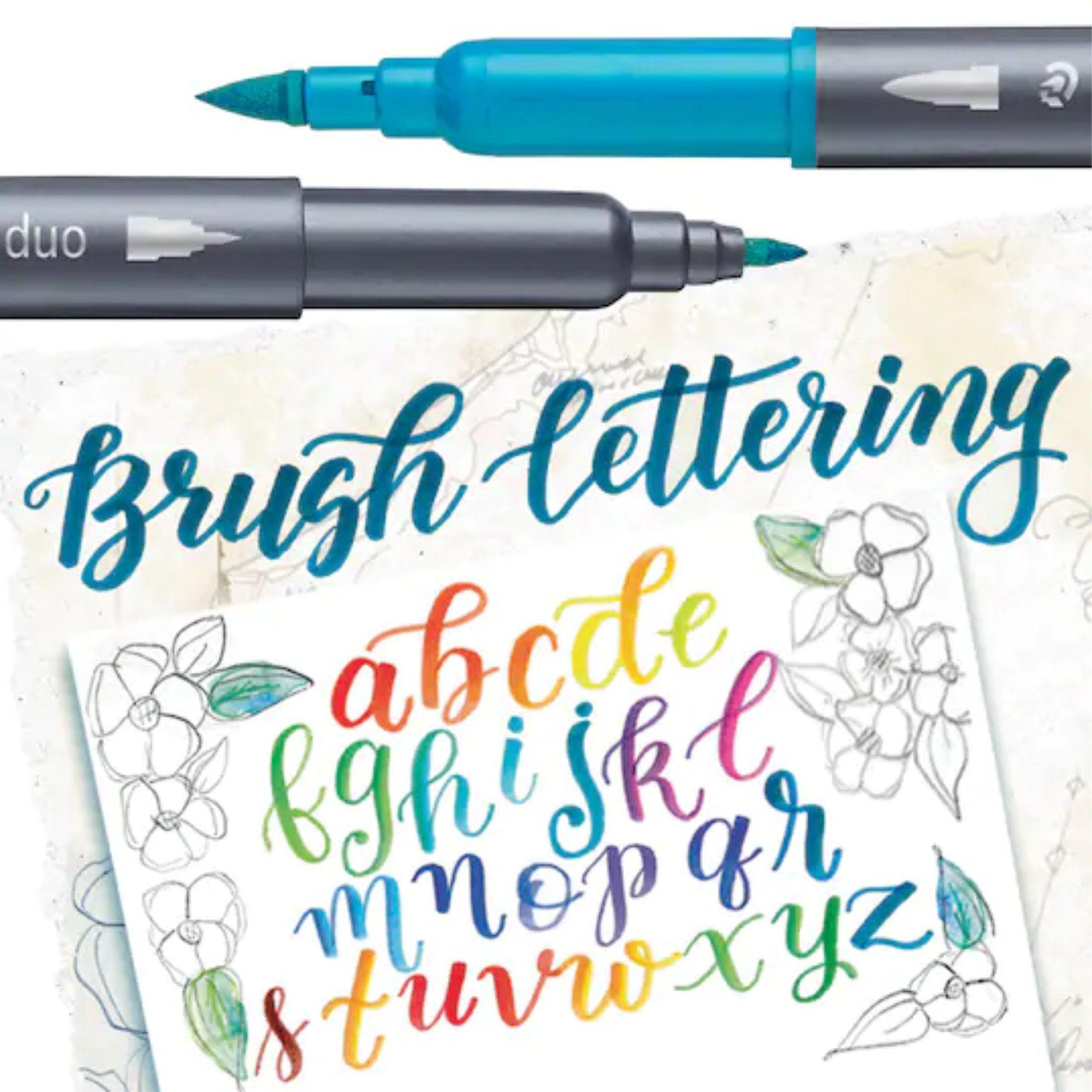 Caneta Brush Pen Lettering Staedtler 12 Cores