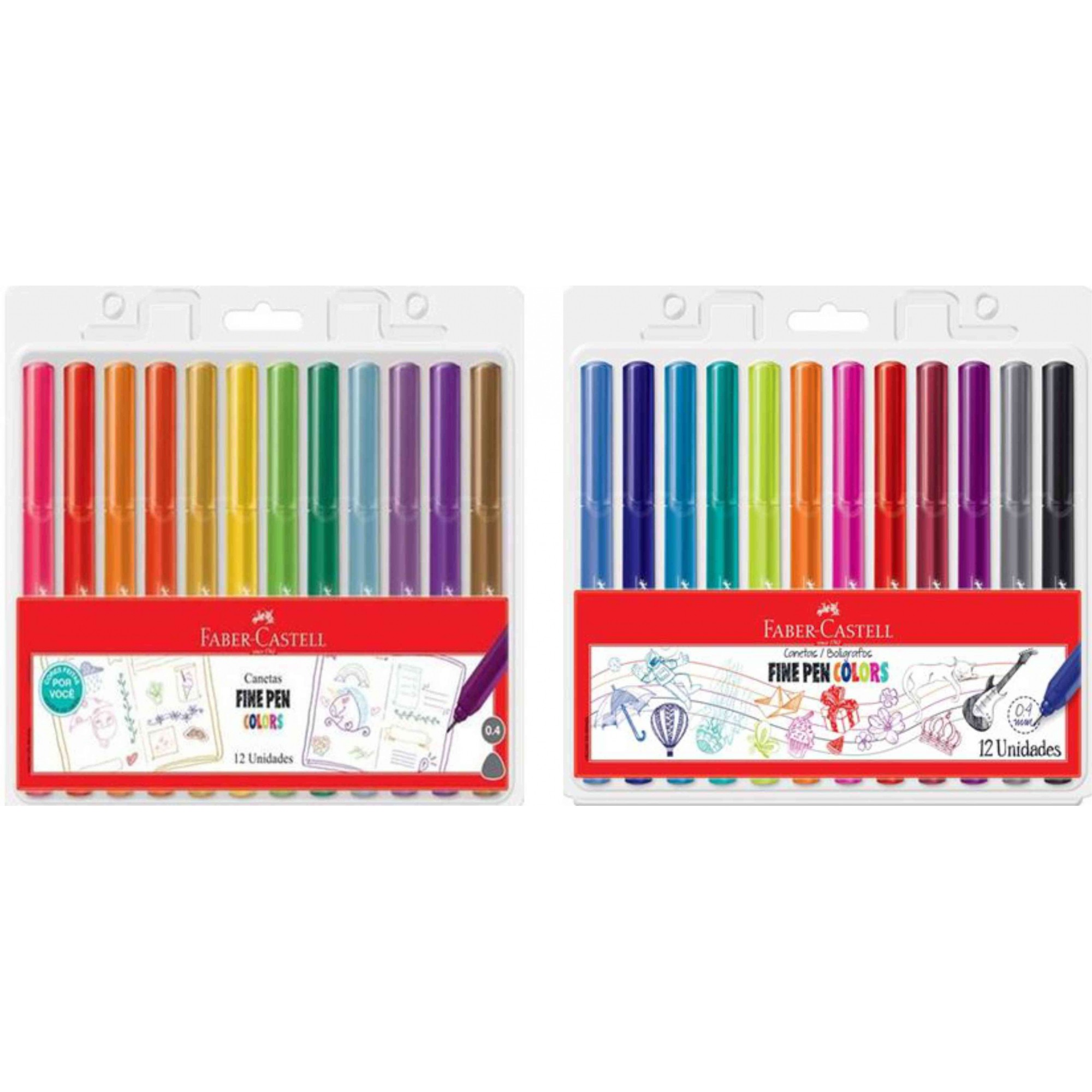 Caneta Fine Pen Faber Castell 12 Cores