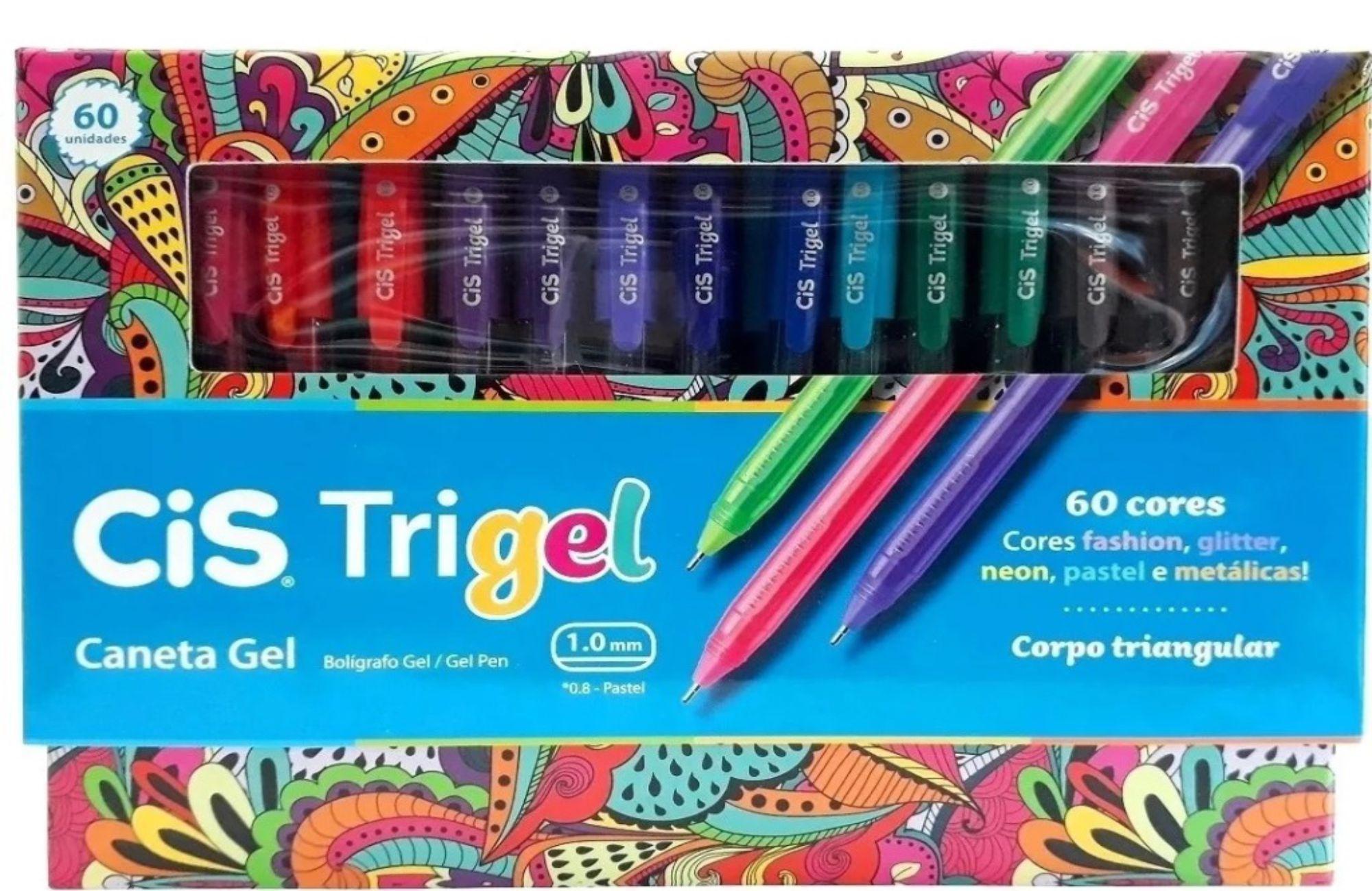 Caneta Gel Trigel Cis 60 Cores