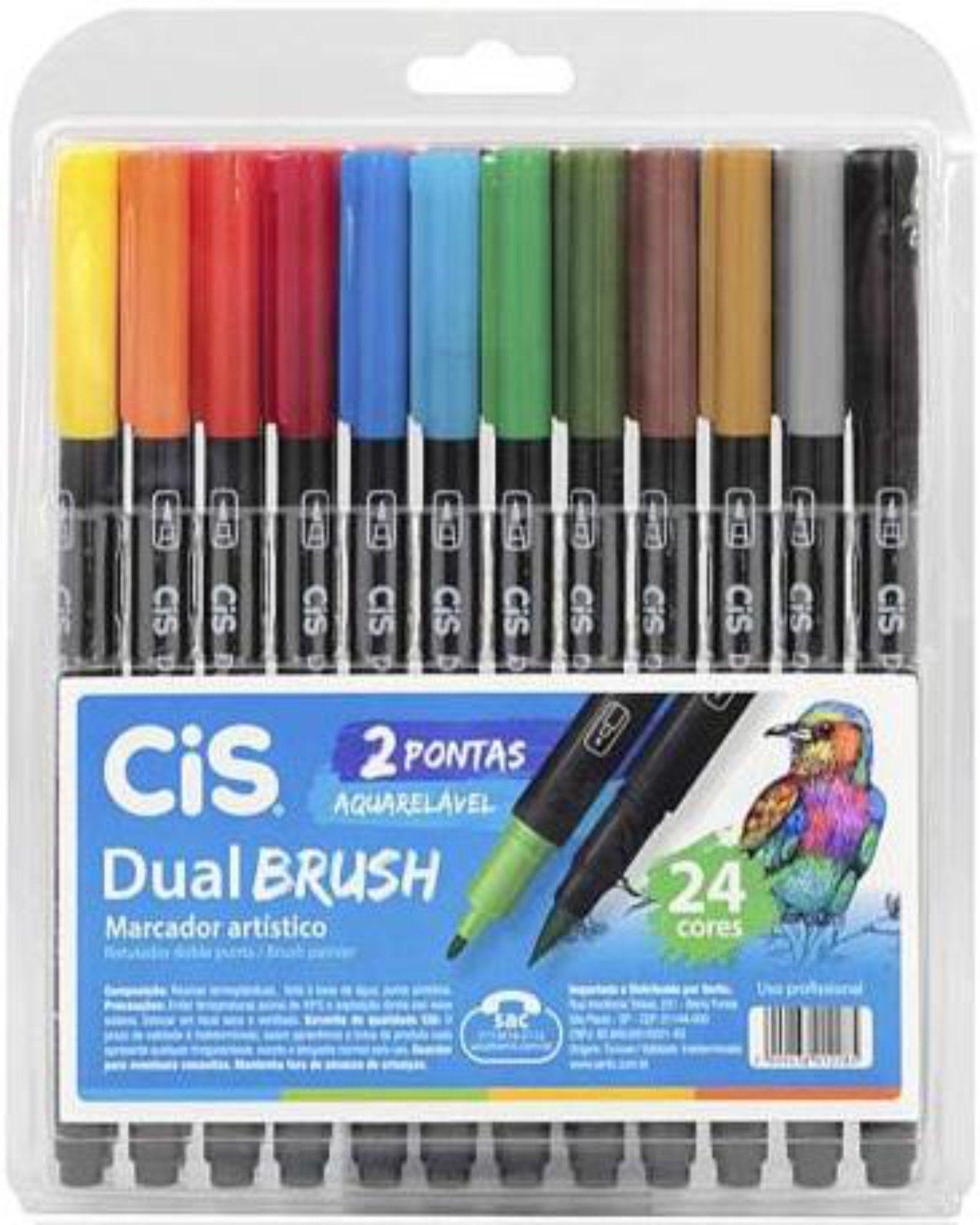 Canetinha Dual Brush Cis 24 Cores