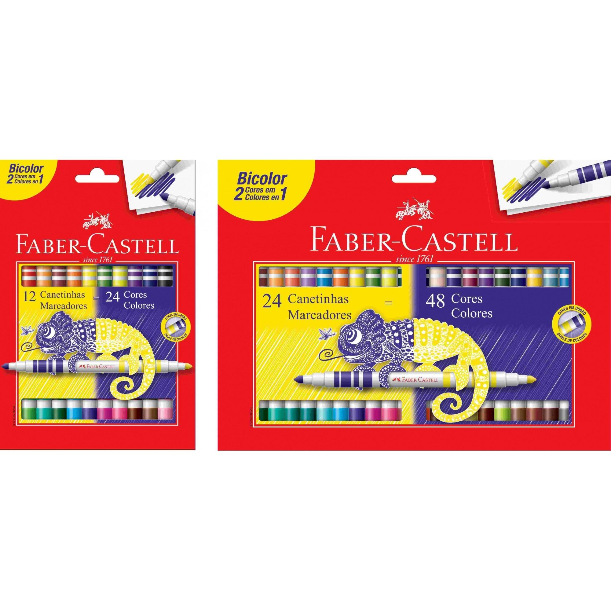 Canetinhas Bicolor Faber Castell