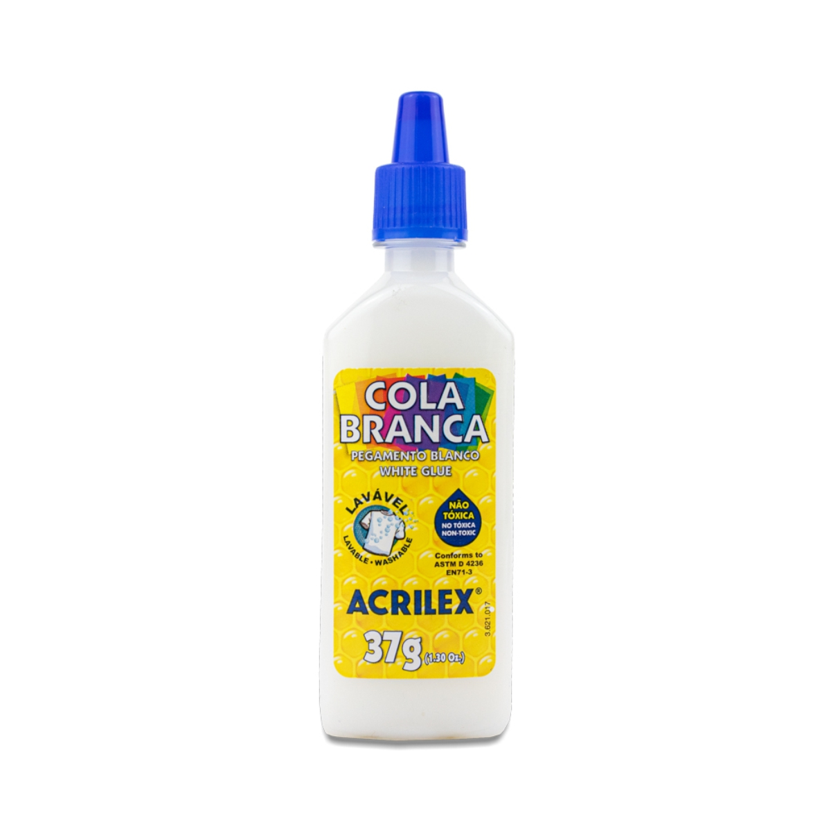 Cola Branca Acrilex Escolar Lavável 37g