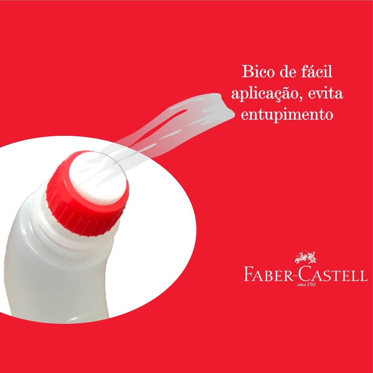 Cola Gel Faber Castell Frasco Ergonômico 63g