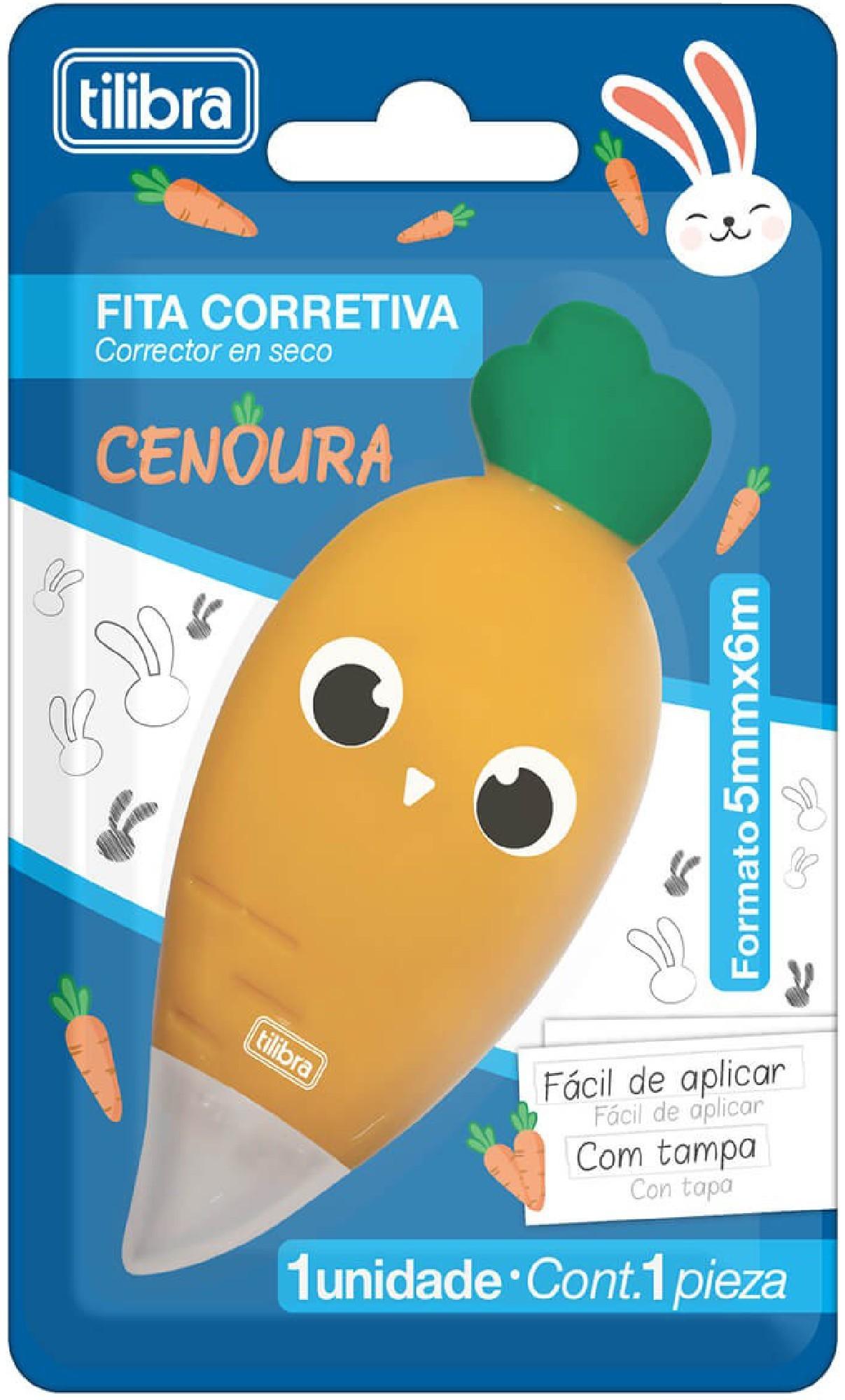 Corretivo Fita Cenoura Tilibra