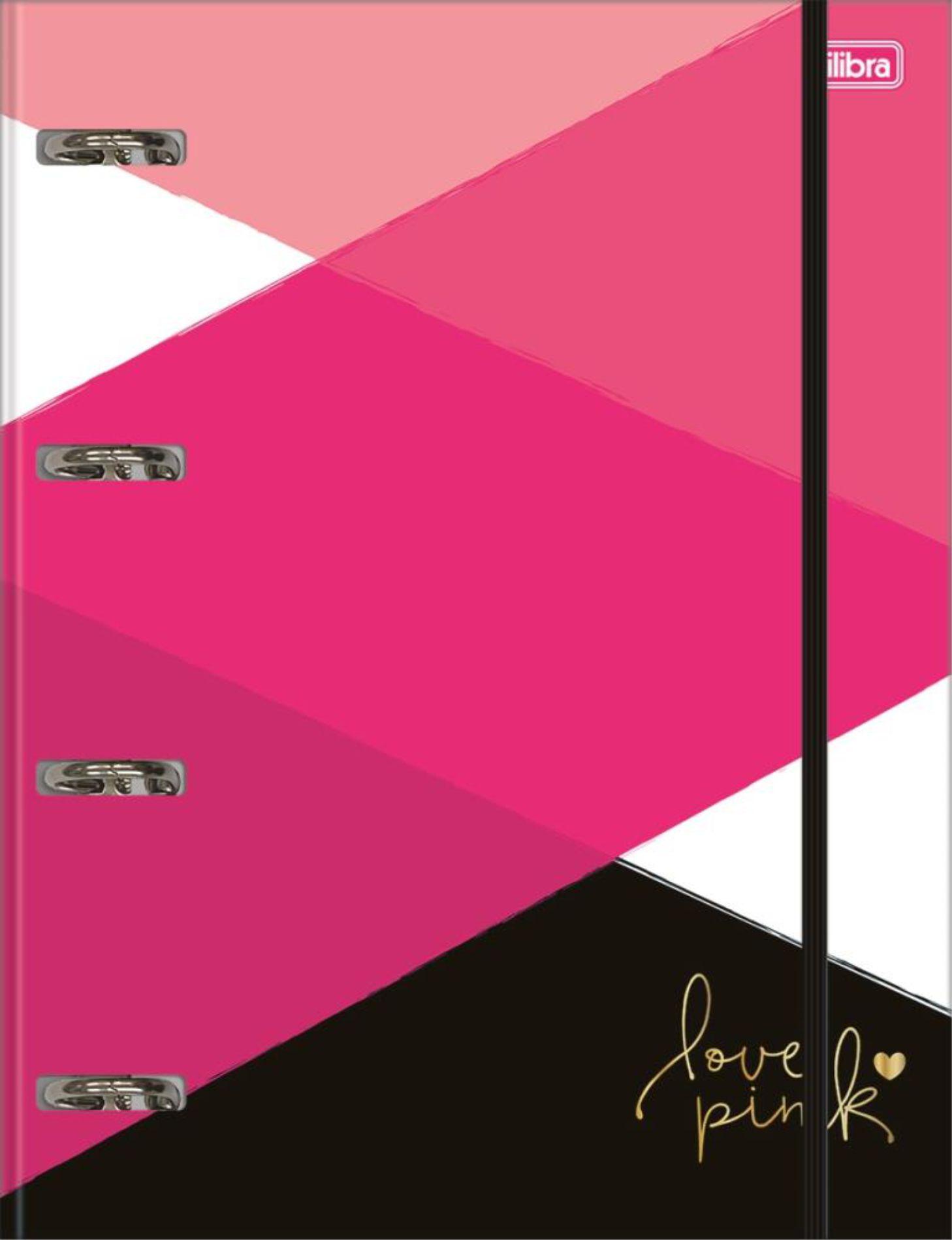 Fichário Cartonado Love Pink Tilibra
