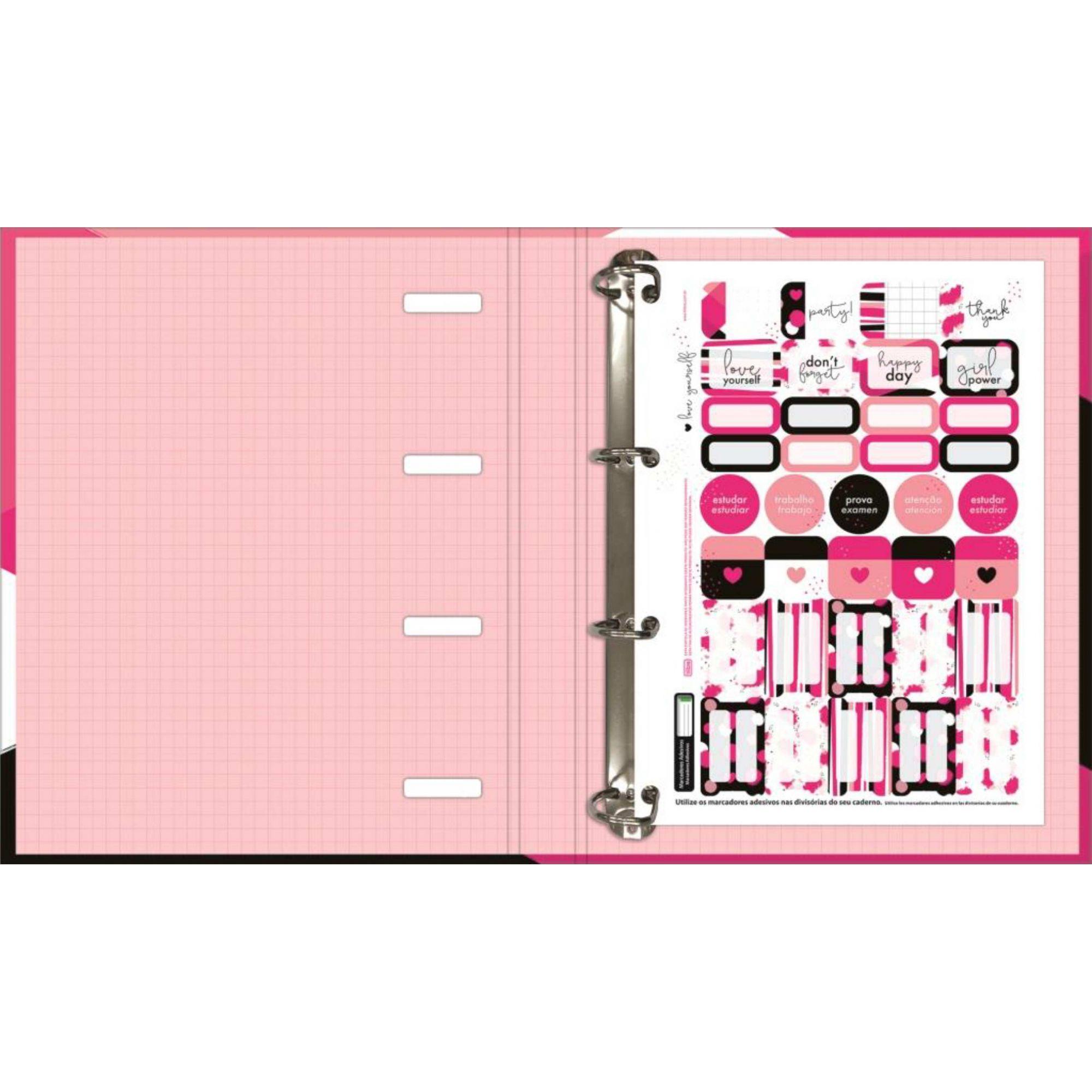 Fichário Argolado Love Pink Tilibra