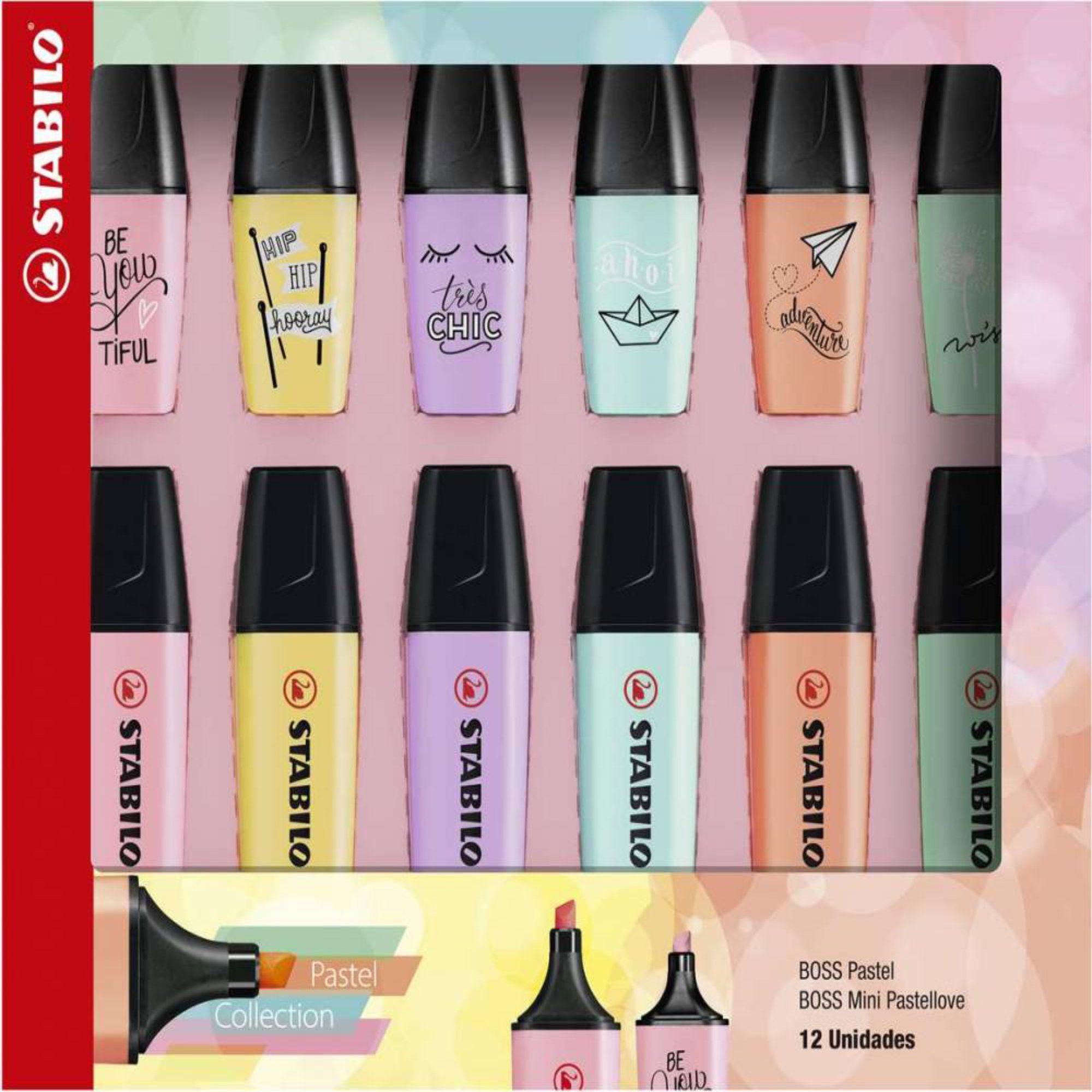 Kit Stabilo Boss Pastel + Mini Pastel Love