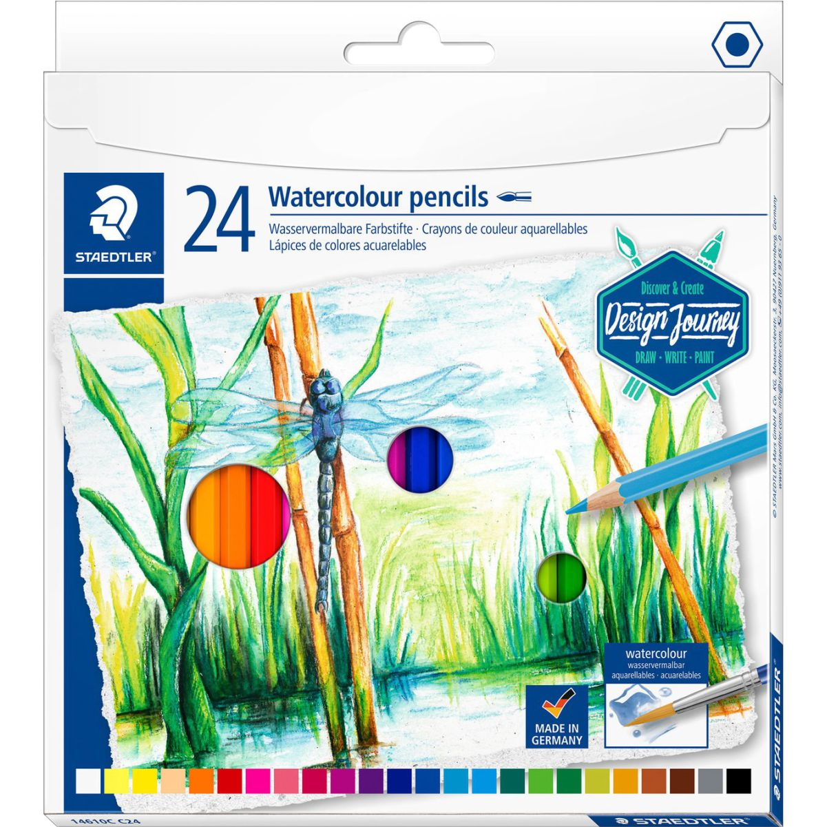 Lápis de Cor Aquarelável Staedtler 24 Cores